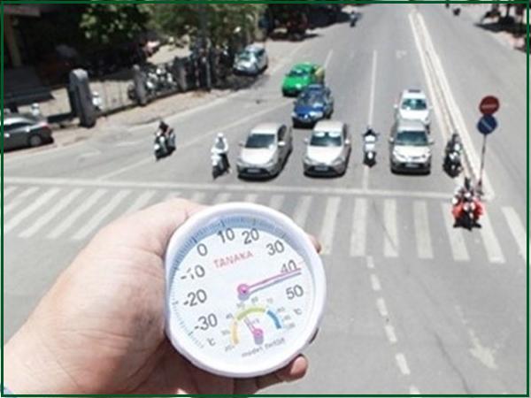 Vào mùa nóng nhiệt độ tới 40 độ
